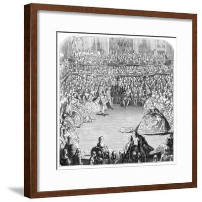 Minuet Dancer and the King, 1754-Charles Nicolas Cochin-Framed Giclee Print