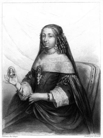 Marguerite of Lorraine, Duchess of Orleans (1615-167)- Brasch-Framed Giclee Print
