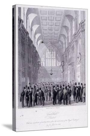 The Guildhall, London, 1838-C Matthews-Stretched Canvas Print