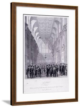 The Guildhall, London, 1838-C Matthews-Framed Giclee Print