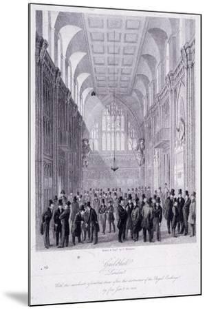 The Guildhall, London, 1838-C Matthews-Mounted Giclee Print