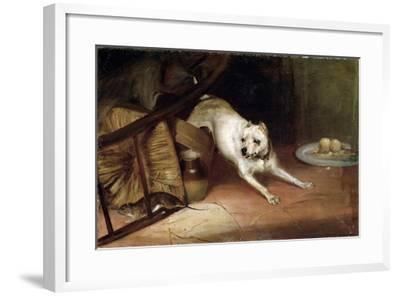 Dog Chasing a Rat, 19th or Early 20th Century-Briton Riviere-Framed Giclee Print