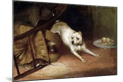 Dog Chasing a Rat, 19th or Early 20th Century-Briton Riviere-Mounted Giclee Print