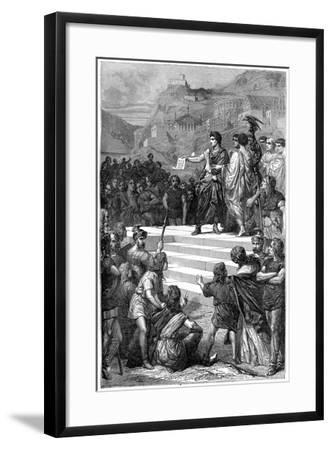 Augustus Establishes the Centre of Government of Gaul in Lyon, 28 BC-Bertrand-Framed Giclee Print