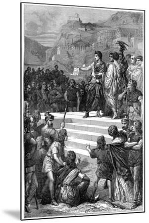 Augustus Establishes the Centre of Government of Gaul in Lyon, 28 BC-Bertrand-Mounted Giclee Print