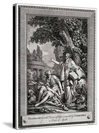 Telemachus, in the Desert of Oasis, Is Consoled by Termosiris a Priest of Apollo, 1774-Charles Grignion-Stretched Canvas Print