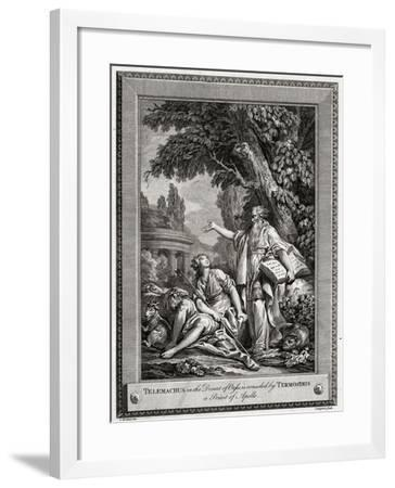 Telemachus, in the Desert of Oasis, Is Consoled by Termosiris a Priest of Apollo, 1774-Charles Grignion-Framed Giclee Print