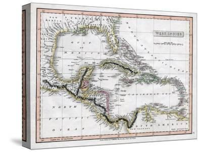 A Map of the West Indies, 1808-C Smith-Stretched Canvas Print