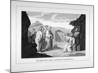 Ticket for the London Hospital Showing Christ and the Disciples, C1825-Charles Grignion-Mounted Giclee Print