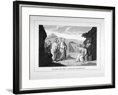 Ticket for the London Hospital Showing Christ and the Disciples, C1825-Charles Grignion-Framed Giclee Print