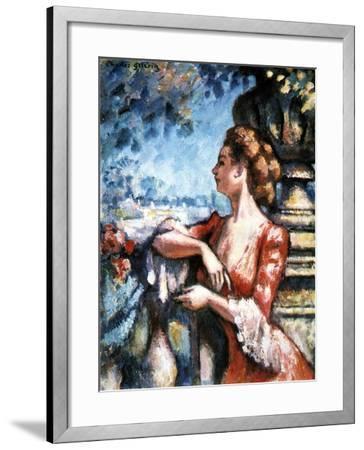 Expectation, 1907-Charles Guerin-Framed Giclee Print