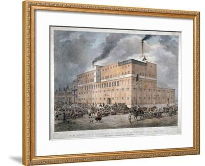Westminster Ale and Porter Brewery on Horseferry Road, London, C1840-C Warren-Framed Giclee Print