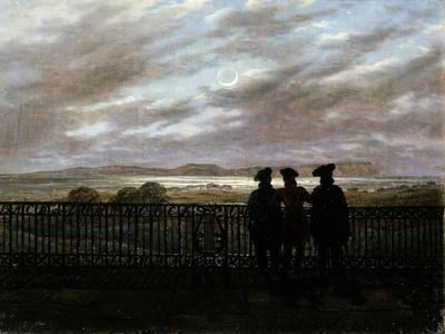 The Poets V.A. Zhukovsky, S.I. Turgenev and A.I. Turgenev, End 1820S-Caspar David Friedrich-Framed Giclee Print