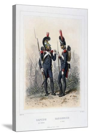 Sapper and Gunner, Napoleon's Imperial Guard-C Colin-Stretched Canvas Print