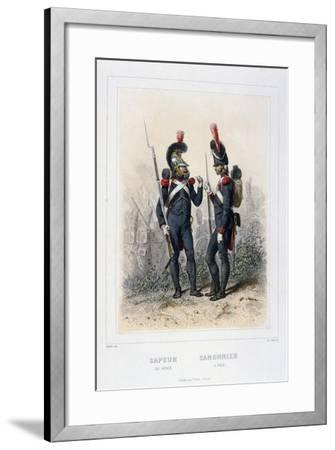 Sapper and Gunner, Napoleon's Imperial Guard-C Colin-Framed Giclee Print