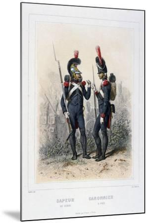 Sapper and Gunner, Napoleon's Imperial Guard-C Colin-Mounted Giclee Print