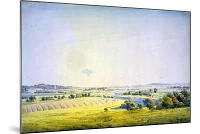 View over Putbus, 1824-1825-Caspar David Friedrich-Mounted Giclee Print