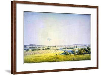 View over Putbus, 1824-1825-Caspar David Friedrich-Framed Giclee Print
