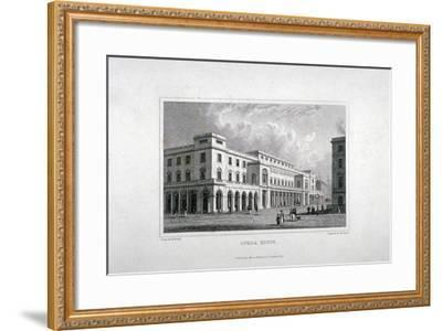 View of the King's Theatre, Haymarket, London, 1837-Charles Heath-Framed Giclee Print