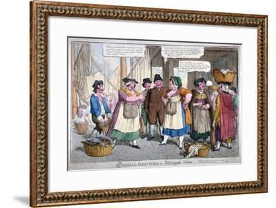 Scandal Refuted, or Billingsgate Virtue, 1818-C Williams-Framed Giclee Print