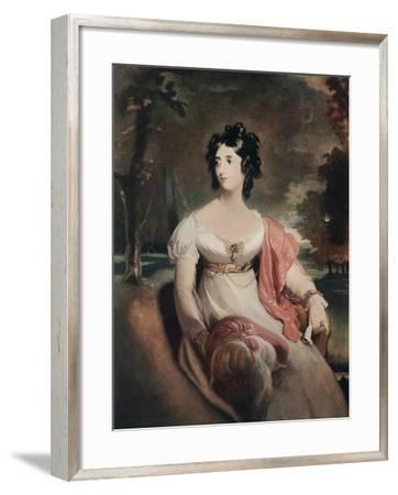 Lady Peel, Early 19th Century-C Coppier-Framed Giclee Print