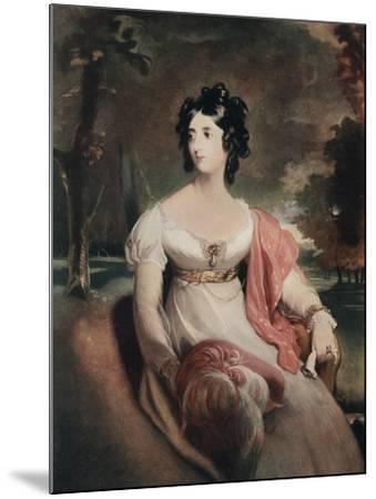 Lady Peel, Early 19th Century-C Coppier-Mounted Giclee Print