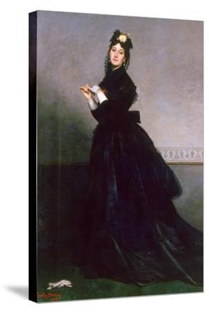 The Woman with the Glove, 1869-Charles Emile Auguste Carolus-Duran-Stretched Canvas Print