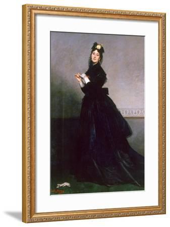 The Woman with the Glove, 1869-Charles Emile Auguste Carolus-Duran-Framed Giclee Print