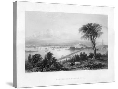 Boston, and Bunker Hill, C1820-C Cousen-Stretched Canvas Print