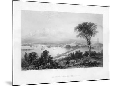 Boston, and Bunker Hill, C1820-C Cousen-Mounted Giclee Print