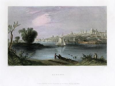 Albany, New York, USA, 1837-C Cousen-Stretched Canvas Print