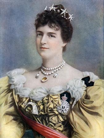 Amelia of Orleans, Queen of Portugal, Late 19th-Early 20th Century- Camacho-Framed Giclee Print