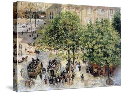 Place Du Theatre-Francais, Spring, 1898-Camille Pissarro-Stretched Canvas Print