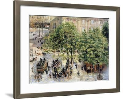 Place Du Theatre-Francais, Spring, 1898-Camille Pissarro-Framed Giclee Print