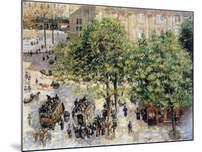 Place Du Theatre-Francais, Spring, 1898-Camille Pissarro-Mounted Giclee Print