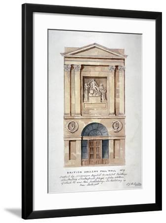 View of the Entrance to the British Institution, Pall Mall, Westminster, London, 1819-Charles James Richardson-Framed Giclee Print