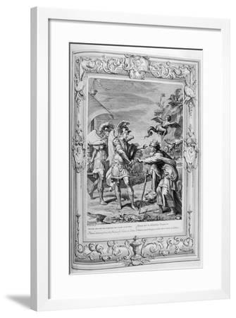 Phineus Is Delivered from the Harpies by Calais and Zethes, 1733-Bernard Picart-Framed Giclee Print
