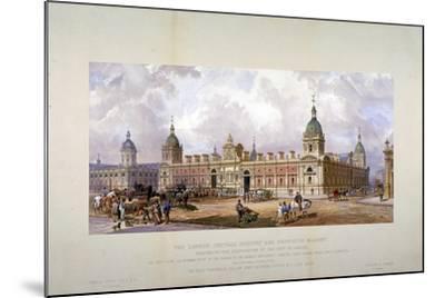 Smithfield Market, City of London, 1875-CF Kell-Mounted Giclee Print