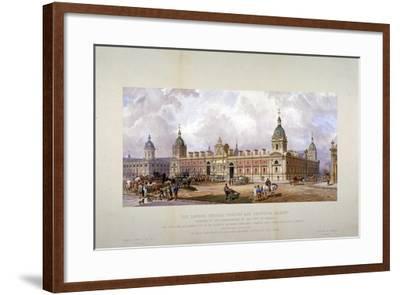 Smithfield Market, City of London, 1875-CF Kell-Framed Giclee Print