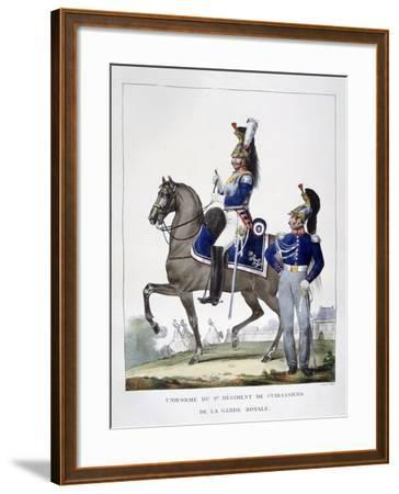 Uniform of the 1st Regiment of Chasseurs of the Royal Guard, France, 1823-Charles Etienne Pierre Motte-Framed Giclee Print