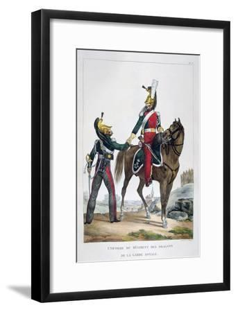 Uniform of a Regiment of Dragoons of the Royal Guard, France, 1823-Charles Etienne Pierre Motte-Framed Giclee Print