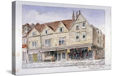 Wooden Shop Fronts Described as Sharps's Buildings, Royal Mint Street, Stepney, London, 1871-Charles James Richardson-Stretched Canvas Print