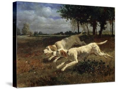 Running Dogs, 1853-Constant Troyon-Stretched Canvas Print
