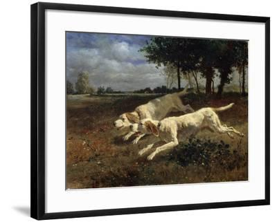 Running Dogs, 1853-Constant Troyon-Framed Giclee Print