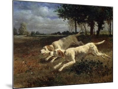 Running Dogs, 1853-Constant Troyon-Mounted Giclee Print