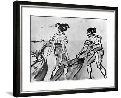 The Bull Fight, 19th Century-Constantin Guys-Framed Giclee Print