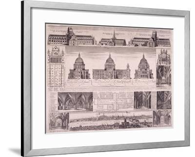 St Paul's Cathedral, London-David Loggan-Framed Giclee Print