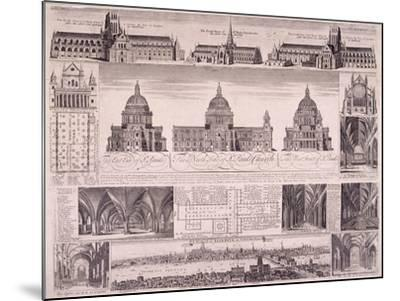 St Paul's Cathedral, London-David Loggan-Mounted Giclee Print