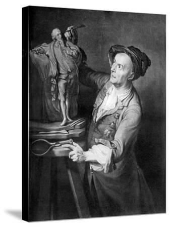 Louis Francois Roubiliac Making a Sculpture of Shakespeare, C1765, (1920)-David Martin-Stretched Canvas Print