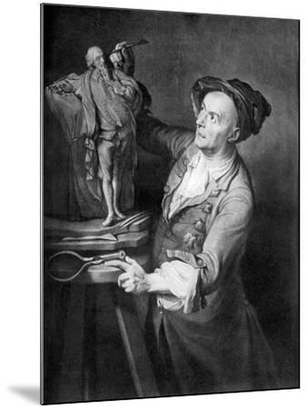 Louis Francois Roubiliac Making a Sculpture of Shakespeare, C1765, (1920)-David Martin-Mounted Giclee Print
